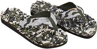 Hot Sale! 🍒 Summer Floral Camouflage Flip Flops Sandals Slipper Indoor Outdoor (Men Green, 45)
