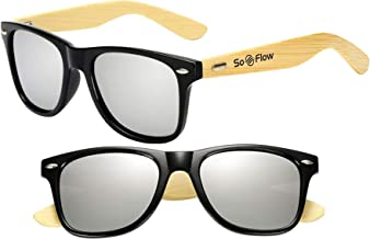 SoFlow Bamboo Wood Sunglasses (Polarized) for Men & Women - Wooden - Large Frame