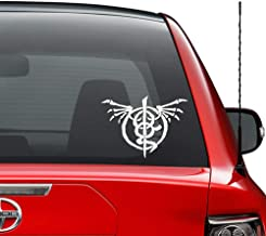 Lamb of God Wrath Symbol Vinyl Decal Sticker Car Truck Vehicle Bumper Window Wall Decor Helmet Motorcycle and More - (Size 9 inch / 23 cm Wide) / (Color Gloss Black)