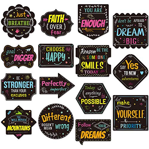 Chalkboard Brights Positive Sayings Accents 30PCS for Classroom Bulletin Board Decoration 15 Designs
