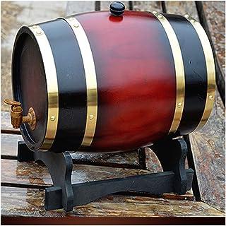 Tonneau à vin en Bois Tonneau de Bois Distributeur 10L, Tonneau en Bois de chêne, Convient à Vinification ou Stockage de v...