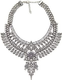 Fashion Statement Necklace Choker Collar Bib Necklace Vintage Boho Costume Jewelry for Women Girls