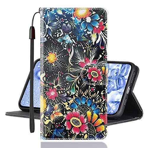 Sinyunron Klapphülle für Handy Xiaomi Mi Mix 3 5G Hülle Leder Brieftasche Handytasche,Klapptasche Lederhülle Hüllen Hülle Schutzhülle Tasche Cover (Hülle-08B)