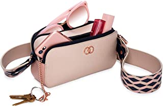 Caboodles Life & Style Crossbody Clutch, Dual Compartment Cell Phone & Essentials Purse
