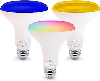 Smart Bulbs,3 Pack Alexa Light Bulbs with RGB Color Changing,2.4G WiFi Bulbs 13W BR30 Led Bulbs with E26/E27 Base,No Hub Required,Smart Light Bulb Compatible with Alexa and Google Home