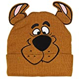 Bioworld Scooby Doo Costume Hat Beanie Embroidered Scooby Original Cartoon Network Face,Brown,One Size