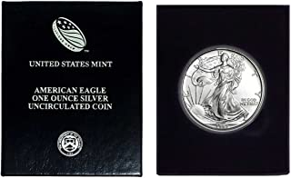 1993 - American Silver Eagle in Plastic Air Tite and Blue Gift Box with our Certificate of Authenticity Dollar Uncirculated Us Mint