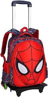 Spiderman Escuela de la Carretilla Bolsas balanceo Mochila con Ruedas para niños de 6-12 años