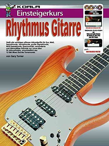 Einsteigerkurs Rhythmus Gitarre (Buch/CD/Doppel-DVD/Poster)