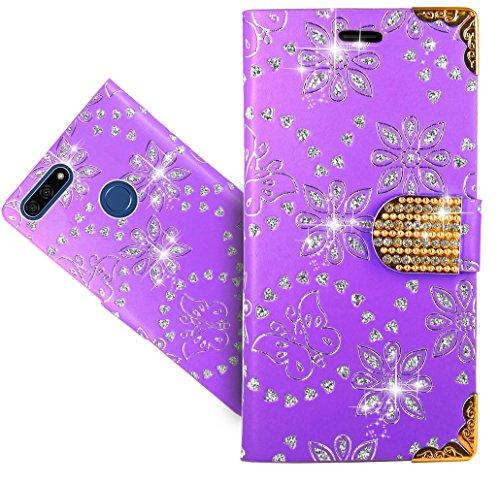 Honor 7A / Huawei Y6 2018 / Y6 Prime 2018 Handy Tasche, FoneExpert® Wallet Hülle Cover Bling Diamond Hüllen Etui Hülle Ledertasche Lederhülle Schutzhülle Für Honor 7A / Huawei Y6 2018 / Y6 Prime 2018