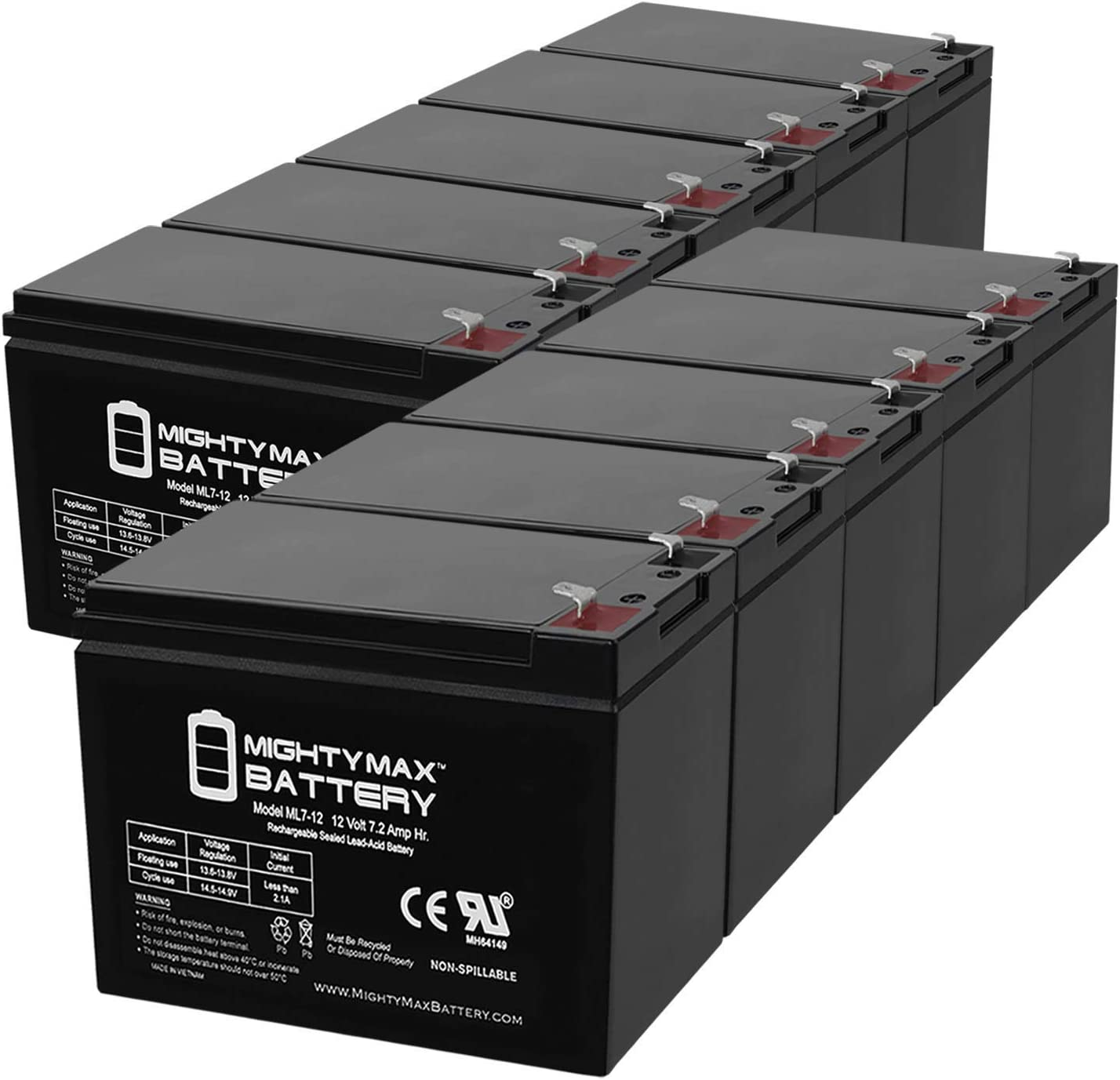 Mighty Max 2021 autumn and winter new Battery 12V 7Ah Emerson Free shipping on posting reviews for UPS200-10 UPS Pac