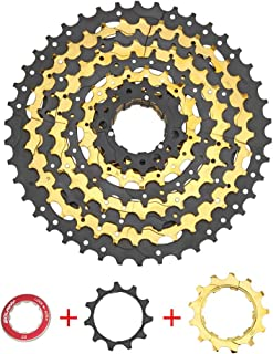 LIDAUTO Bicycle Freewheel MTB Mountain Bike Sprocket Cassette Cassette 9 Speed 11-42T Compatible with Shimano&SRAM System