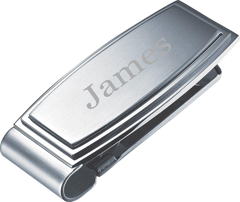 Personalized Visol Capri Stainless Steel Engravable Money Clip