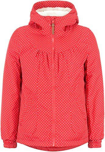 DESIRES Damen Winterjacke ELLIE Jacket Windbreaker Kapuzen-Jacke mit Punkten gefuettert Teddy, Frabe: (Rot) high risk (743), Größe: XL