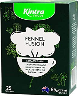 Kintra Foods Extra Strength Natural Fennel Fusion 25 Filter Teabags