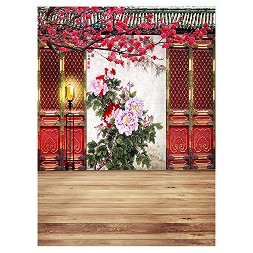 Matefield Hintergrundstoff für Fotostudio, Motiv Festival, Blumenbaum