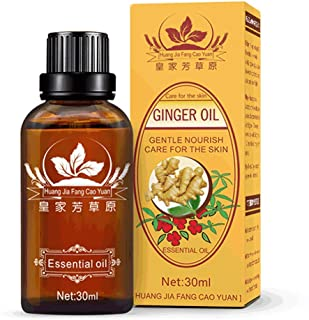 Ginger Massage Oil, Body Care Scraping Spa Massage Incense Foot bath Ginger Essential Oil, for Neck Hands Hips Feet, 30ml