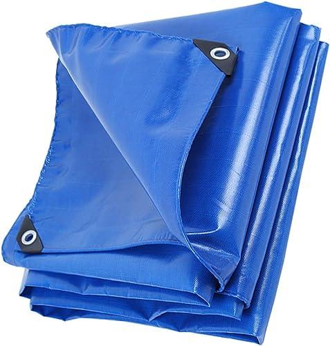 Yunyisujiao Camping, pêche, Jardinage et Animal de Compagnie Bleu épais bache de Pluie résistant à la bache imperméable Robuste Toile bache de Camping en Plein air Parasol Tente auvent (Couleur   4X4M)