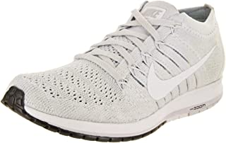Womens Flyknit Streak Low Top Lace Up, Pure Platinum/White/Black, Size 8.5