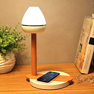 VGGV Multi-Function LED Table Lamp, Dimmable Office Lamp, Dimmable LED Desk Lamp with USB/Wireless Qi Charging, Touch Cont...
