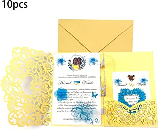 Vitality-Store 10pcs 3D Pop up Wedding Invitation Cards with Envelope for Wedding Baby Shower for Making Thanksgiving & Christmas Atmosphere