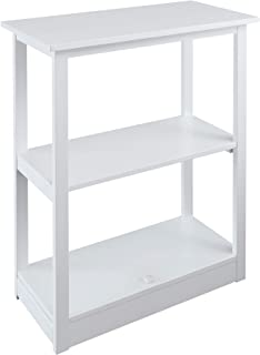 Casual Home Adams Bookcase Sliding Track, Concealment Furniture, White