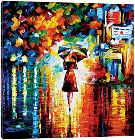 iCanvasART Rain Princess Canvas Print by Afremov 26