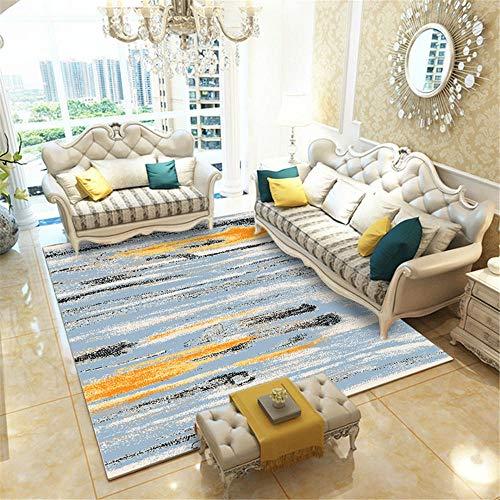RUGMYW Conciso alfombras de habitacion Beige Azul Gris Amarillo Negro Elementos Abstractos alfombras Salon Grandes 120X160cm