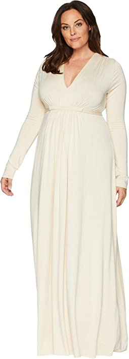 Plus Size Long Sleeve Full Length Caftan