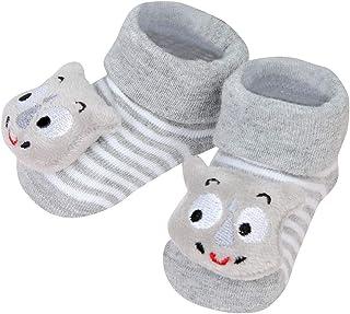 Recién Nacido Calcetines Corto para Bebés de Algodón Antideslizantes Niños Dibujos Animados Muñeca Raya Primeros Pasos Primavera Verano Punto Calcetin de Piso Niñas Niño 0-15 Meses