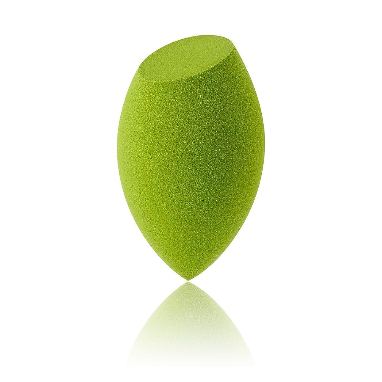 実り多い引き付けるたるみAmeyes メイク用スポンジパフ 乾湿兼用 ふわふわ (斜めカット形/緑)