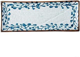 Dinner plate الإبداعي رسمت باليد مستطيل لوحة السيراميك المنزلية لوحة لوحة اللوحة الغربية لوحة السوشي لوحة الأسماك لوحة الع...