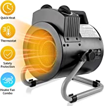 DAHTEC Electric Space Heater Large Air Protable Thermostat Heaters for Office and Home 35/1500W