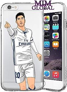 MIM Global Football Futbol Soccer Protectores Case Cover Compatible para Todos iPhone (iPhone 6/6s, Asensio)