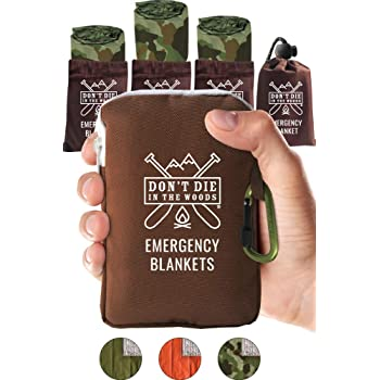 World's Toughest Emergency Blankets   4 Pack Extra Large Thermal Mylar Foil Space Blanket Heat Sheets For Hiking, Marathon Running, First Aid Kits, Prepper, Bug Out & Outdoor Survival Gear