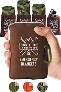 World's Toughest Emergency Blankets | 4 Pack Extra Large Thermal Mylar Foil Space Blanket Heat Sheets For Hiking, Marathon Running, First Aid Kits, Prepper, Bug Out & Outdoor Survival Gear
