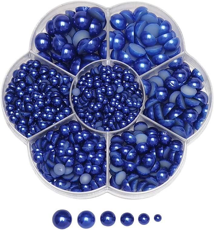 store Chenkou Animer and price revision Craft Random 1900pcs Navy Assorted 7 Be Pearl Half Sizes