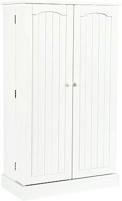 Amazon com: Tall Storage Cabinet: Kitchen & Dining