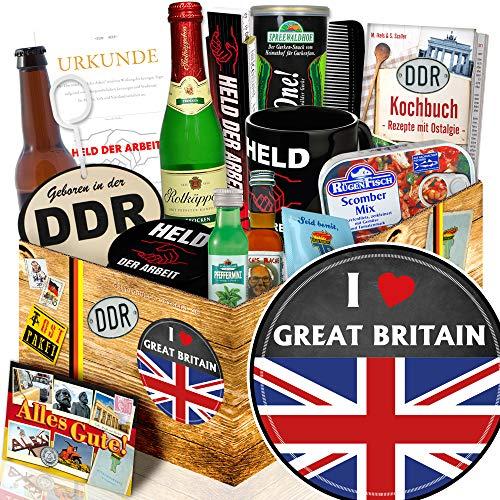 I love Great Britain / England Liebhaber Präsent / Ostalgie Set für Männer