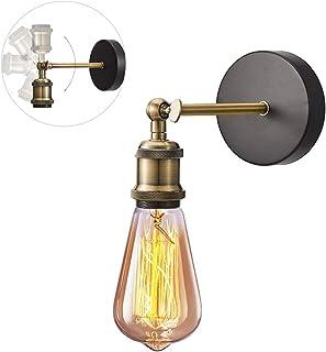 Przemysłowy kinkiet vintage kinkiet przemysłowy E27 oprawa lampy z regulowaną głowicą mosiężną lampa ścienna do poddasza, ...
