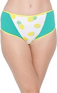 Clovia Women's Cotton Mid Waist Lemon Print Hipster Panty
