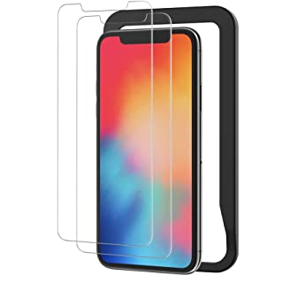 NIMASO ガラスフィルム iPhone 11 Pro 用 iPhone X XS 適用 強化 ガラス 保護 フィルム ガイド枠 2枚セット