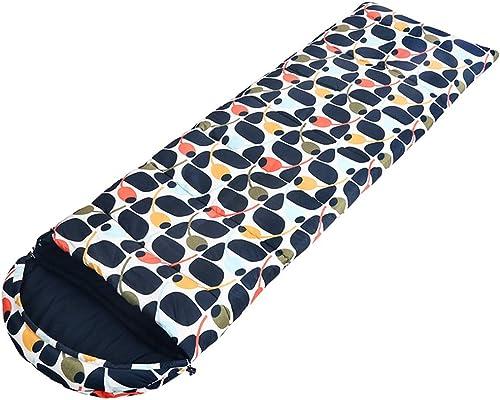 ZTSD Sac de Couchage pour Adultes en Plein air portable Hiver Camping épais Sac de Couchage Chaud Coton Sac de Couchage en intérieur