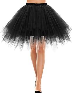 Bbonlinedress Tutu Tüllrock Petticoat Unterrock Rock 50er Vintage Ballet Blase Tanzrock Tanzkleid Ballkleid Kurz Retro