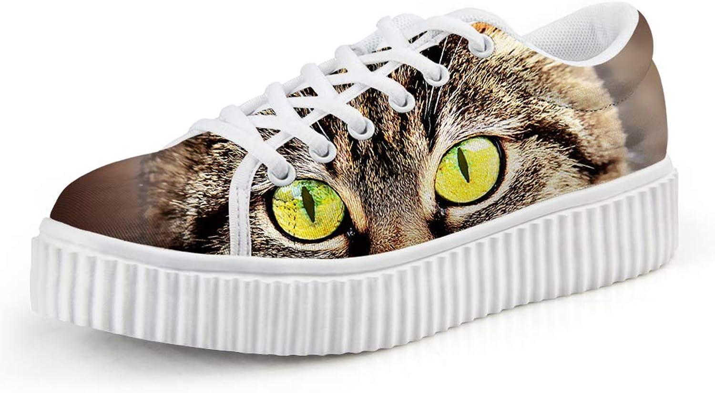 Chaqlin Fashion Denim Women Platform shoes Cute Cat Ladies Flats Creeper
