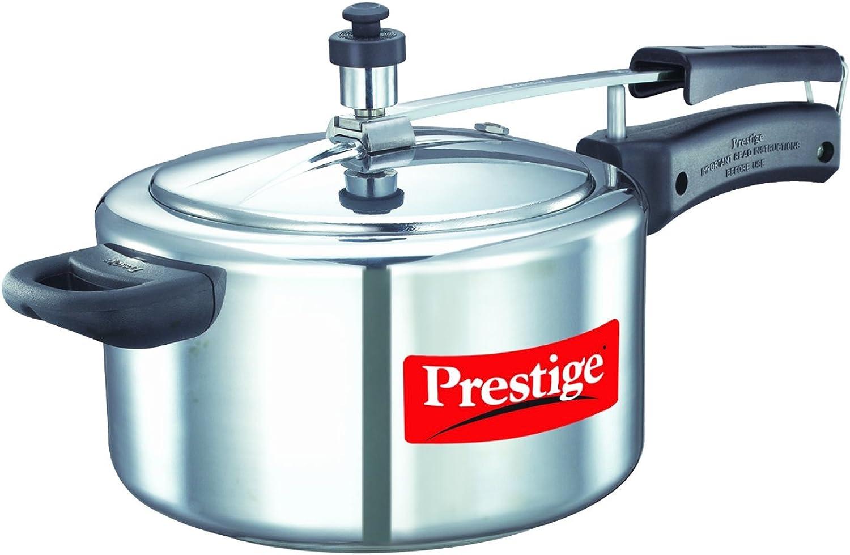 Prestige Nakshatra 11563 Aluminum Pressure Cooker, 4-Liter