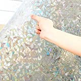 Privacy No-Glue Frosted Window Cover Film PVC Laser Static Cling Glass Window Sticker Waterproof Foil Bathroom