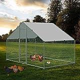 NSdirect Chicken Coop,Walk-in Chincken Run Hen House Rabbits Habitat Cage with Waterproof ...