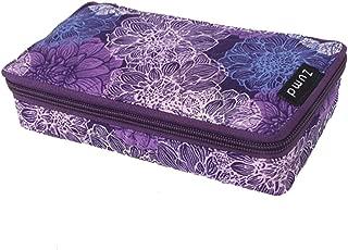 TEMIDE Cotton Pill Organizer Pill Case Pill Box,7 Days of Round Vitamin Organizer Box(Purple)