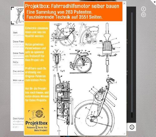 Fahrradhilfsmotor selber bauen: Deine Projektbox inkl. 283 Original-Patenten bringt Dich mit Spaß ans Ziel!